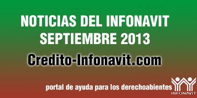 noticias trabajadores Infonavit septiembre 2013